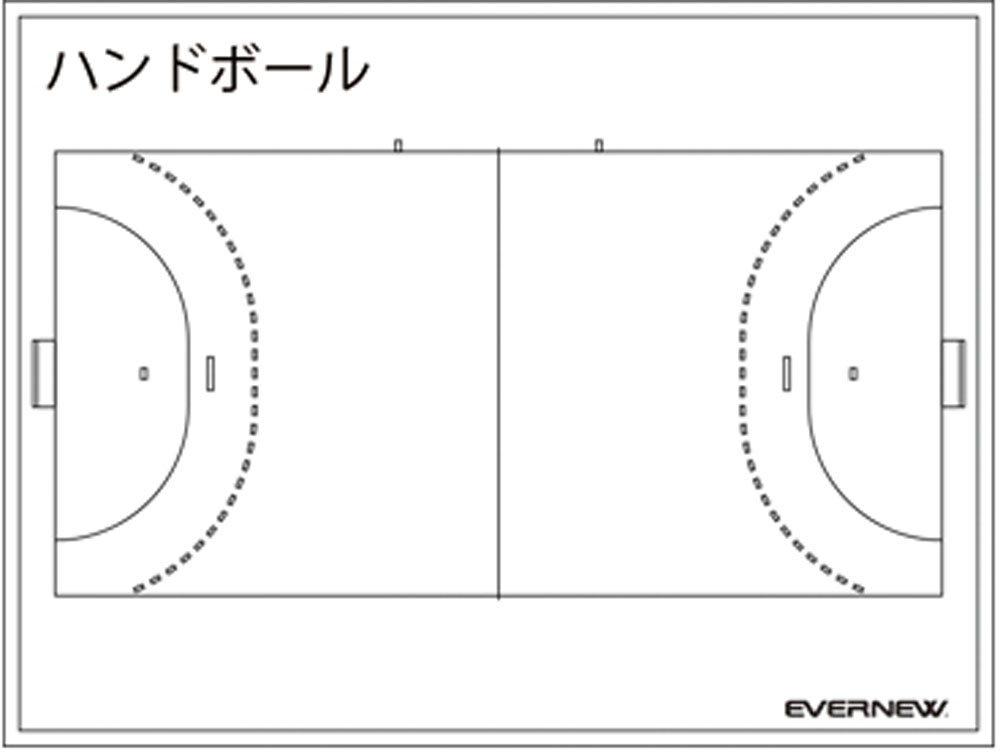 エバニュー 折りたたみハンディ作戦板 ハンドボール EVERNEW EKD921 4