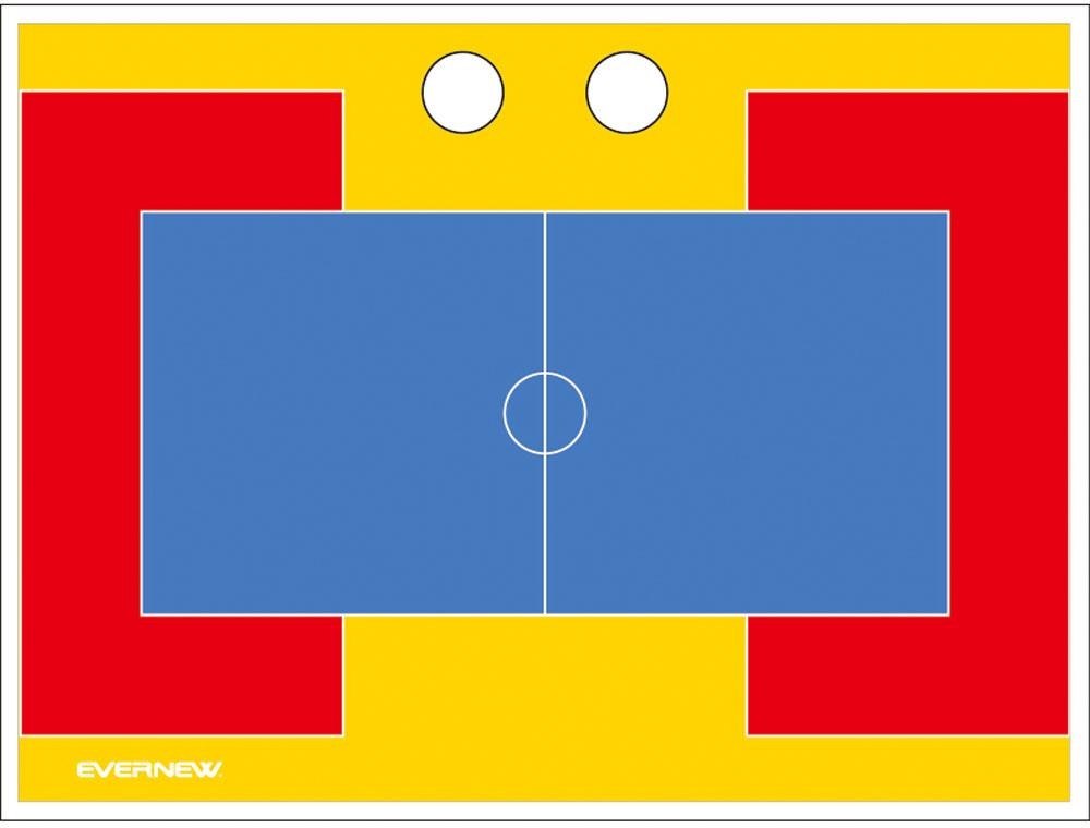 エバニュー カラー作戦板 スタンド付 ドッジボール EVERNEW EKD922 5