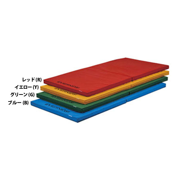 エバニュー 折りたたみ軽量カラーマットすべり止付 ブルー EVERNEW EKM075 B