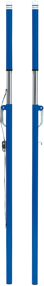 【送料無料】トーエイライト ソフトバレー支柱 ベルト式(検) 床下20cm TOEILIGHT B6302B バドミントン 設備、備品