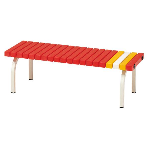 【送料無料】トーエイライト ホームベンチ 120 赤 レッド TOEILIGHT G1382R 体育器具、用品 その他体育器具
