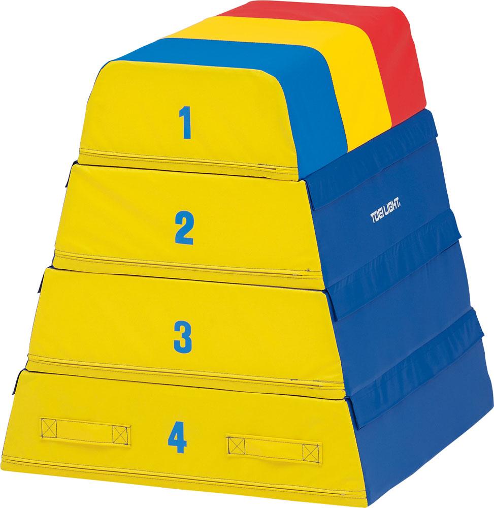 【送料無料】トーエイライト ソフト跳び箱4段 TOEILIGHT T1841 体育器具、用品 とび箱