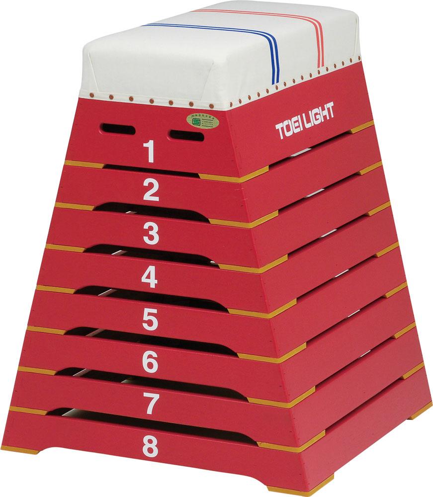 トーエイライト カラー跳び箱8段(小)赤 レッド TOEILIGHT T2808R