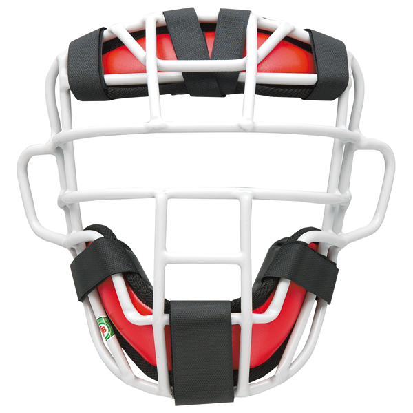 【送料無料】ゼット 大人・中学軟式野球用マスク プロステイタス(SG基準対応) レッド×シルバー ZETT BLM3295A 6413