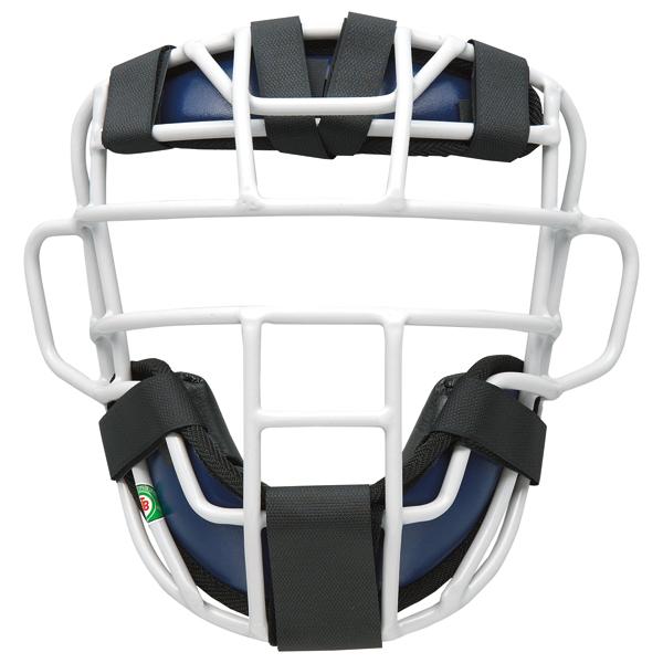 【送料無料】ゼット 大人・中学軟式野球用マスク プロステイタス(SG基準対応) ネイビー×シルバー ZETT BLM3295A 2913
