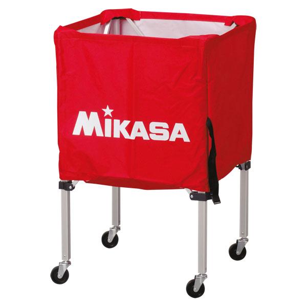 ミカサ ワンタッチ式ボールカゴ3点セット(フレーム・幕体・キャリーケース) レッド MIKASA BCSPSS R