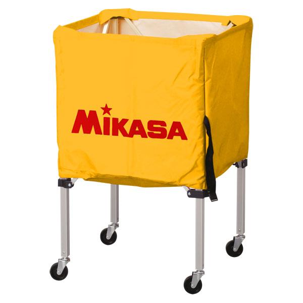 ミカサ ワンタッチ式ボールカゴ3点セット(フレーム・幕体・キャリーケース) イエロー MIKASA BCSPSS Y