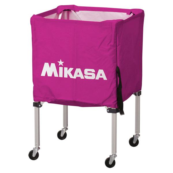 ミカサ ワンタッチ式ボールカゴ3点セット(フレーム・幕体・キャリーケース) 紫 MIKASA BCSPSS V