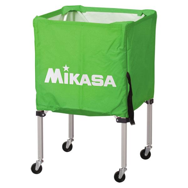 ミカサ ワンタッチ式ボールカゴ3点セット(フレーム・幕体・キャリーケース) ライトグリーン MIKASA BCSPSS LG