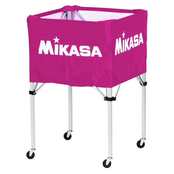 【送料無料】ミカサ ワンタッチ式ボールカゴ(フレーム・幕体・キャリーケース3点セット) 紫 MIKASA BCSPH V