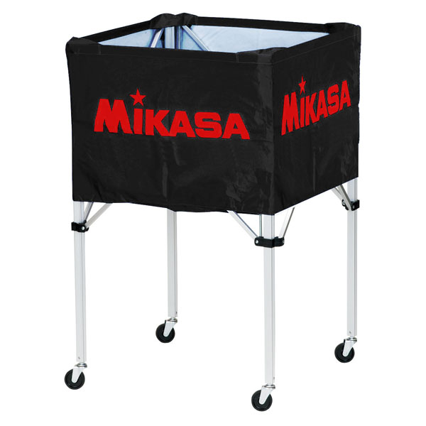 ミカサ ワンタッチ式ボールカゴ(フレーム・幕体・キャリーケース3点セット) ブラック MIKASA BCSPH BK