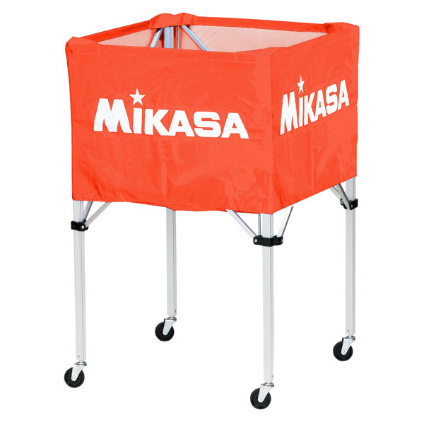 ミカサ ワンタッチ式ボールカゴ(フレーム・幕体・キャリーケース3点セット) オレンジ MIKASA BCSPH O
