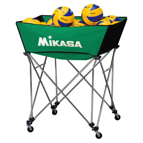 ミカサ 舟形ボールカゴ3点セット(フレーム・幕体・キャリーケース) グリーン MIKASA BCSPWM G