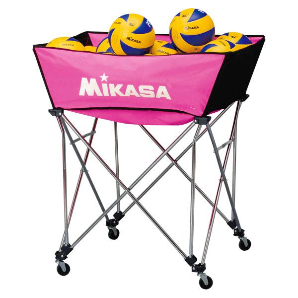 ミカサ 舟形ボールカゴ3点セット(フレーム・幕体・キャリーケース) ピンク MIKASA BCSPWM P
