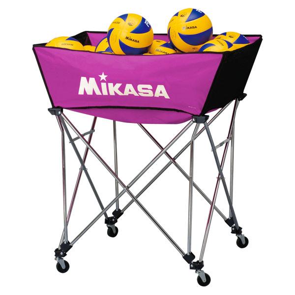 ミカサ 舟形ボールカゴ3点セット(フレーム・幕体・キャリーケース) 紫 MIKASA BCSPWM V