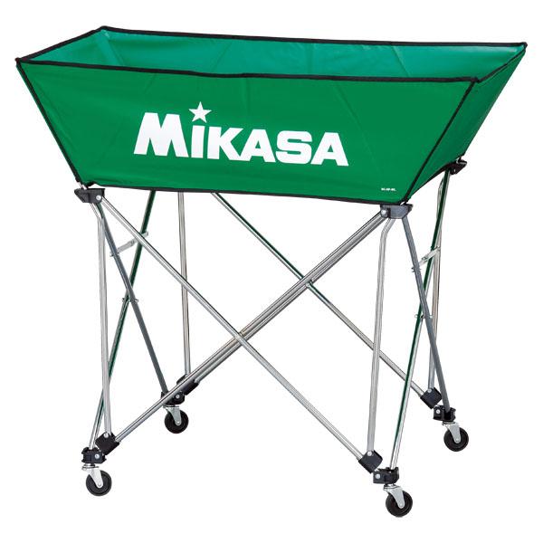ミカサ 舟形ボールカゴ3点セット(フレーム・幕体・キャリーケース) グリーン MIKASA BCSPWL G