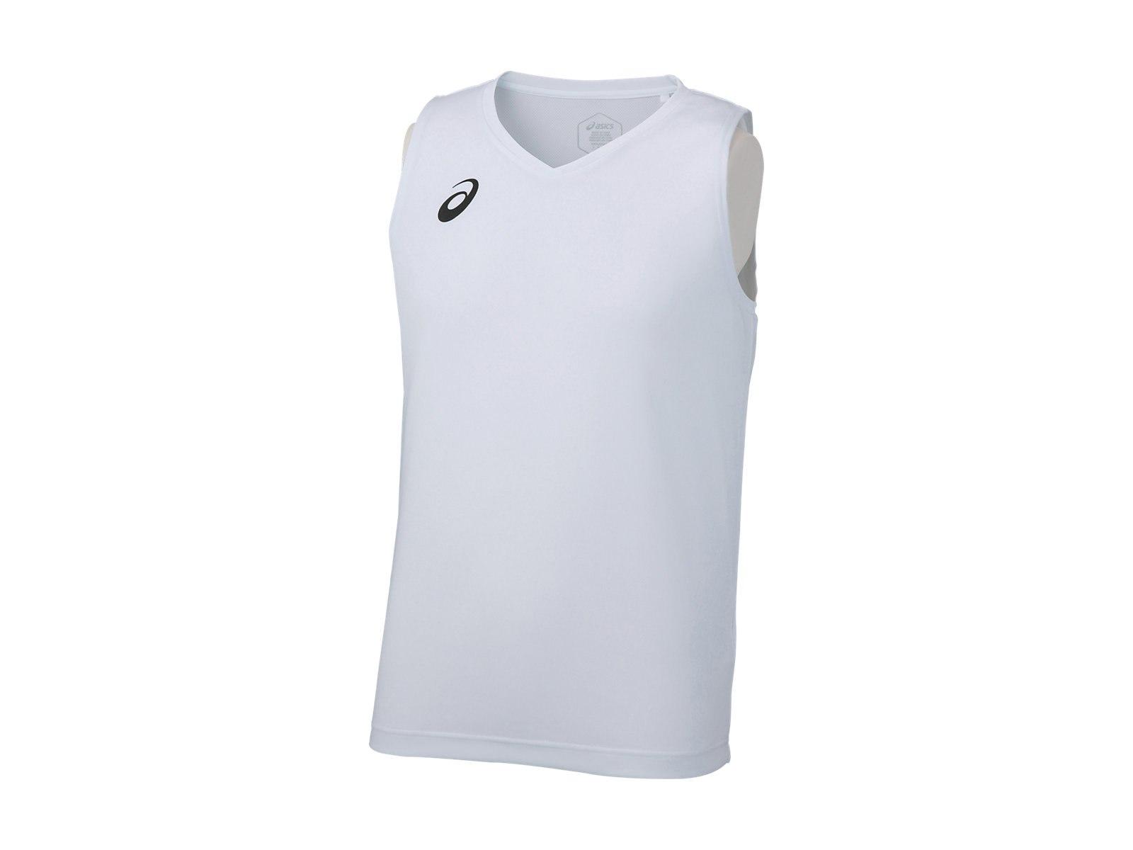 10%OFF 日本未発売 アシックス ノースリーブシャツ ホワイト XA6234 asics 01