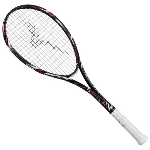 ミズノ ディオスプロR(ソフトテニス) ソリッドブラック×フューチャーオレンジ Mizuno 63JTN861 54