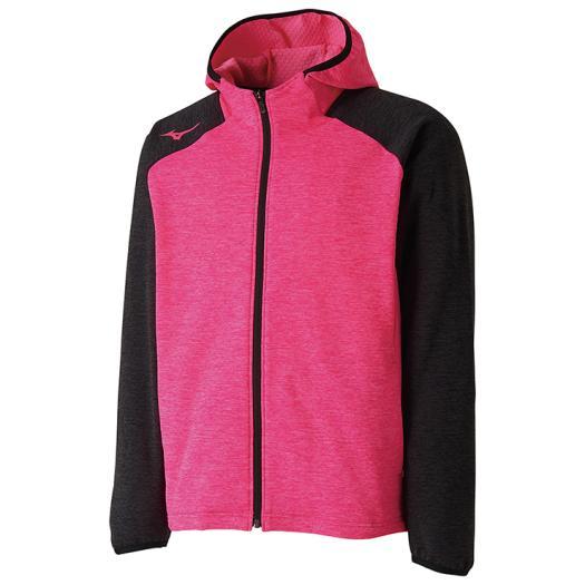 ミズノ オリジナル ファッション通販 ストレッチフリーススウェットシャツ ピンクグロー×ブラック 62JC8507 64 Mizuno