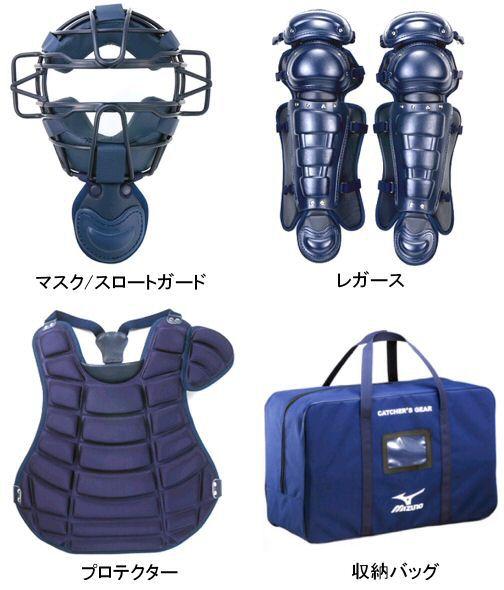 【送料無料】ミズノ 硬式防具4点セット Mizuno 1DJPC100 14