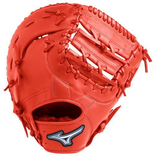 【在庫処分】【送料無料】ミズノ ソフトボール用ファンラップef捕手/一塁手兼用(コンパクトタイプ) ブラック×スプレンディッドオレンジ Mizuno 1AJCS20510 52