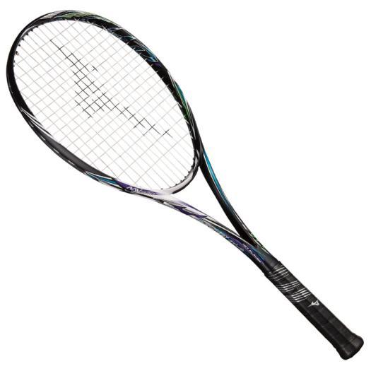 ミズノ スカッド01-C(ソフトテニス)【未張り】 ハイブリッドブラック×ブルーパープル Mizuno 63JTN854 67