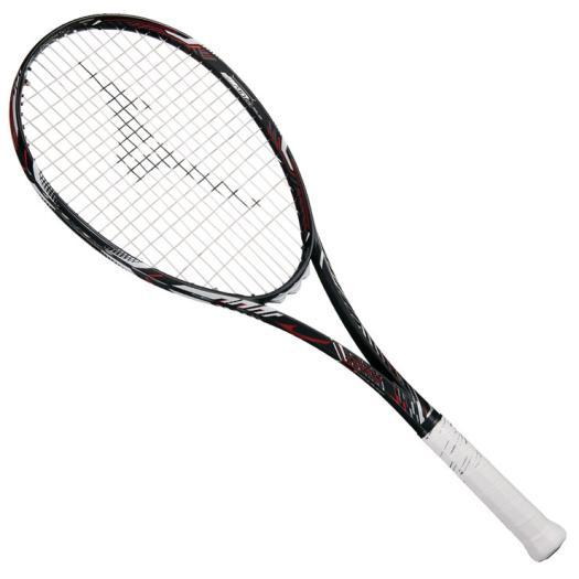 ミズノ ディオス10-R(ソフトテニス)【未張り】 ハイブリッドブラック×フューチャーレッド Mizuno 63JTN863 62