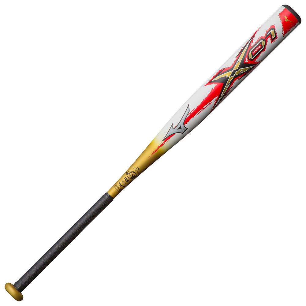 ミズノ ソフトボール用ミズノプロ エックス01(FRP製/84cm/平均680g)(3号/革・ゴムボール用) ホワイト×ゴールド Mizuno 1CJFS10884 01680