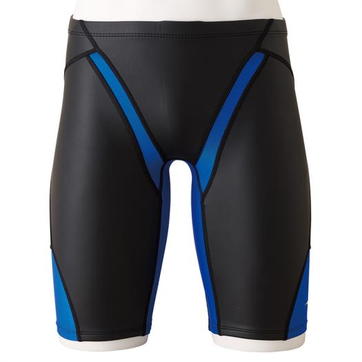 【送料無料】ミズノ 競泳練習用FG-II ハーフスパッツ ブラック×ブルー Mizuno N2MB9578 92