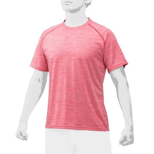 在庫処分 ミズノ ミズノプロ 杢Tシャツ レッド杢 12JA0T02 激安価格と即納で通信販売 Mizuno 62