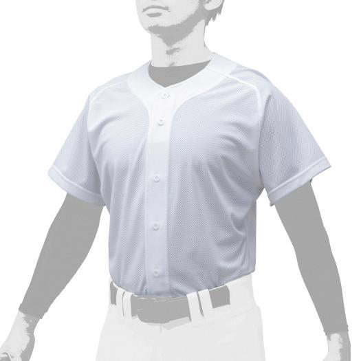 送料無料 手数料無料 ミズノ シャツ オープンタイプ 野球 12JC0F43 最新アイテム Mizuno スーパーホワイト 91