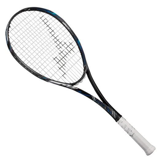 【送料無料】ミズノ ディオス50-R(ソフトテニス) ソリッドブラック×ブルー Mizuno 63JTN065 27