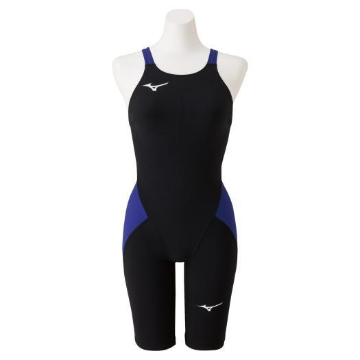 【送料無料】ミズノ 競泳用MX・SONIC α ハーフスーツ[レディース] ブラック×ブルー Mizuno N2MG0211 92
