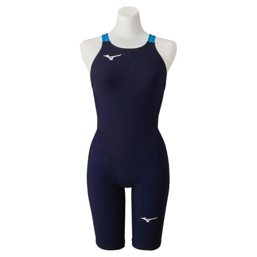 α Mizuno ハーフスーツ[レディース] 【送料無料】ミズノ N2MG0212 20 競泳用MX・SONIC オーロラブルー