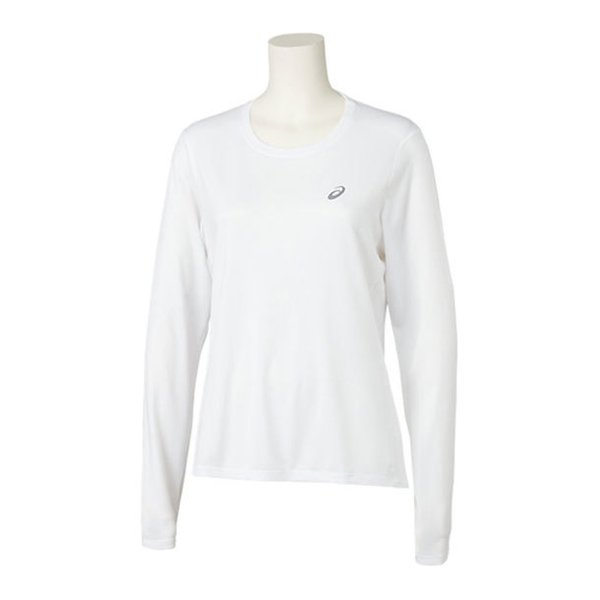 送料無料 期間限定お試し価格 アシックス W'Sランニングロングスリーブトップ ブリリアントホワイト ファッション通販 2012C269 asics 100