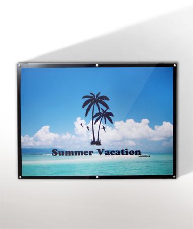 【送料無料※一部地域除く】壁付け 「アイボード」 A0サイズ 盤面ホワイト・ブラック ポスターパネル ピクチャーパネル 薄型 店舗看板 屋内 壁掛け 壁付け看板 H908mmxW1248mmxD40mm 特大