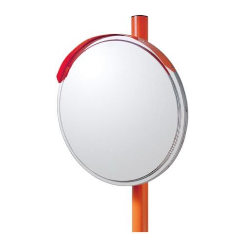 【送料無料♪】道路設置用カーブミラー ステンレス製一面鏡 ミラー・ポールセット ミラーサイズ:φ600mm (安全用品・標識/保安用品)