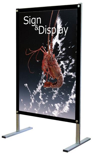 【送料無料♪】B1ポスター用 屋内用メッセージスタンド 面板カラー:ブラック(片面) (スタンド看板/ポスター用スタンド看板)