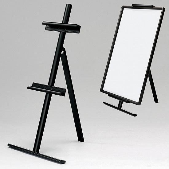 【送料無料♪】アルミイーゼル MS184K ブラック(スタンド看板/アルミ(鉄)イーゼル)