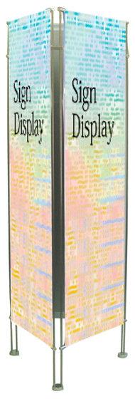 【送料無料♪】クリエイティブバナーズタワー スリーサイン(3面) H2000 幅:W450mm (スタンド看板/バナースタンド/展示会/セミナー会場/販促品/タペストリータイプ)