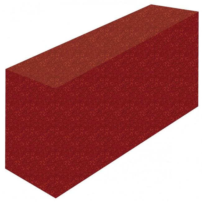 テーブルカバー 花柄レッド サイズ:W1800×H700×D600 (イベント用品/説明会・商談会用品)