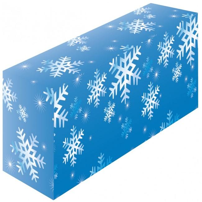 テーブルカバー 柄 雪 サイズ:W1800×H700×D450 (イベント用品/説明会・商談会用品)