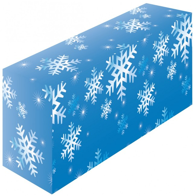 【送料無料♪】テーブルカバー 柄 雪 サイズ:W1800×H700×D600 (イベント用品/説明会・商談会用品)