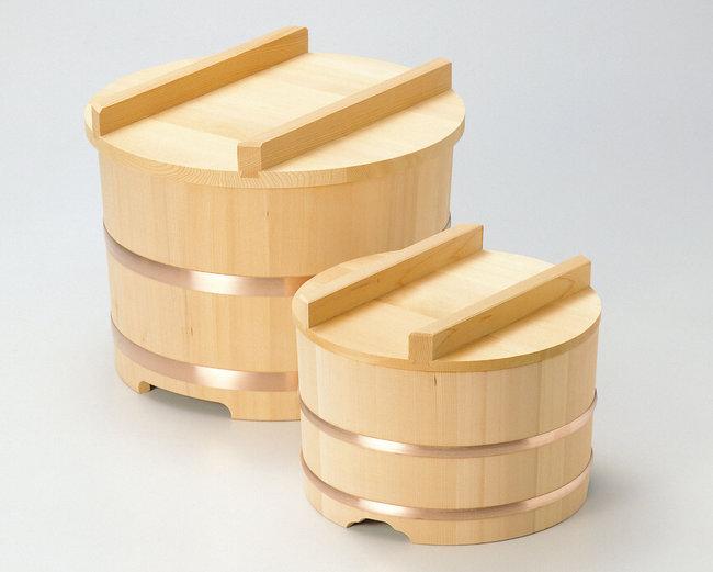 【送料無料♪】椹・のせびつ 約2升 (約φ33cm) [W04117](調理道具/飯台・半切・おひつ)