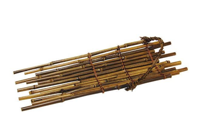 黒竹手付筏 小 [W18197](竹籠(竹かご)/料理かご)