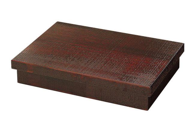 杉・荒彫長方松花堂弁当 [W27377](業務用弁当箱/六ツ仕切 弁当箱)