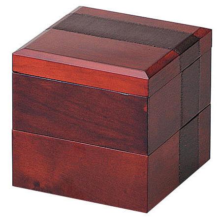 布貼り二段料理箱 [W27014](業務用弁当箱/重ね弁当箱・引き出し弁当箱)