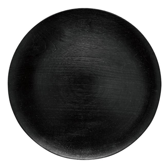 was 平皿 大(黒) (W89471) (料理箱・皿/木製料理皿)