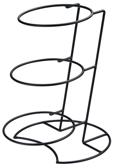 アイアン傾斜3段ディスプレイベース [W25941](ビュッフェ/サラダボウル・木製皿)