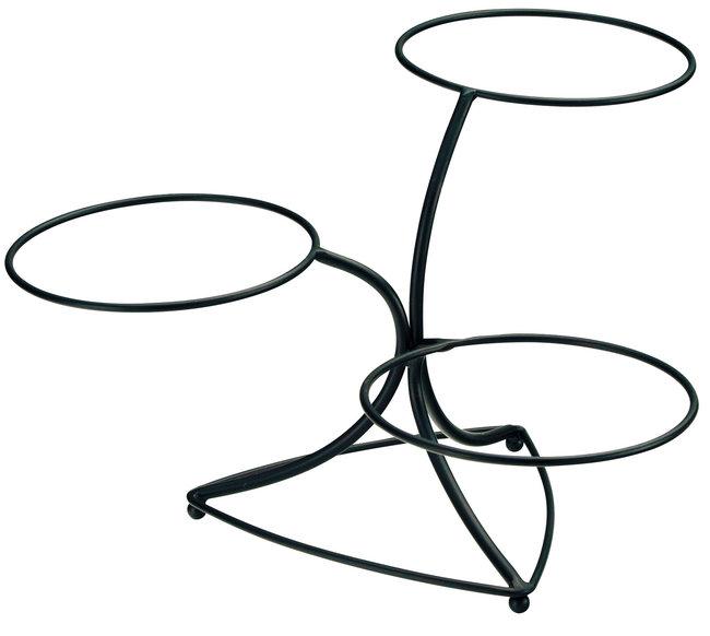 アイアン違い棚3段デイスプレイベース [W25942](ビュッフェ/ガラス・陶器オードブル盛器)